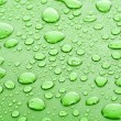 Green water drops background — Stock Photo #6789584