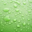 Green water drops background — Stock Photo #6789650