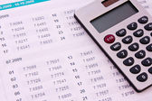 Some financial things - calculator, digits — Stock Photo