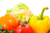 Pepper and few vegetables — Stock Photo