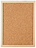 Corkboard isolated on white — Stock Photo