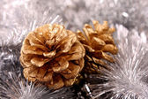 Cone in new year decoration — Stock Photo