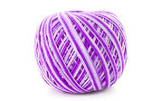 Violet Wool ball isolated on white — Stock fotografie