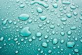 Dark blue water drops background — Stock Photo