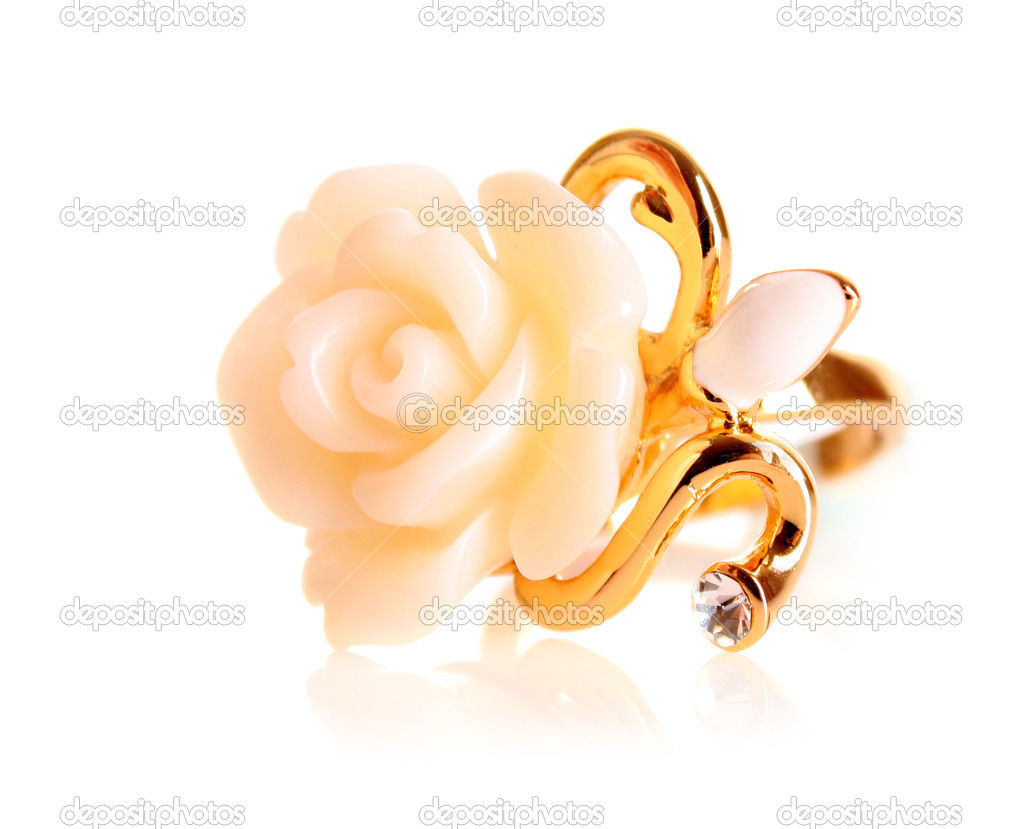 Golden ring isolated on white — Stock Photo #6782664