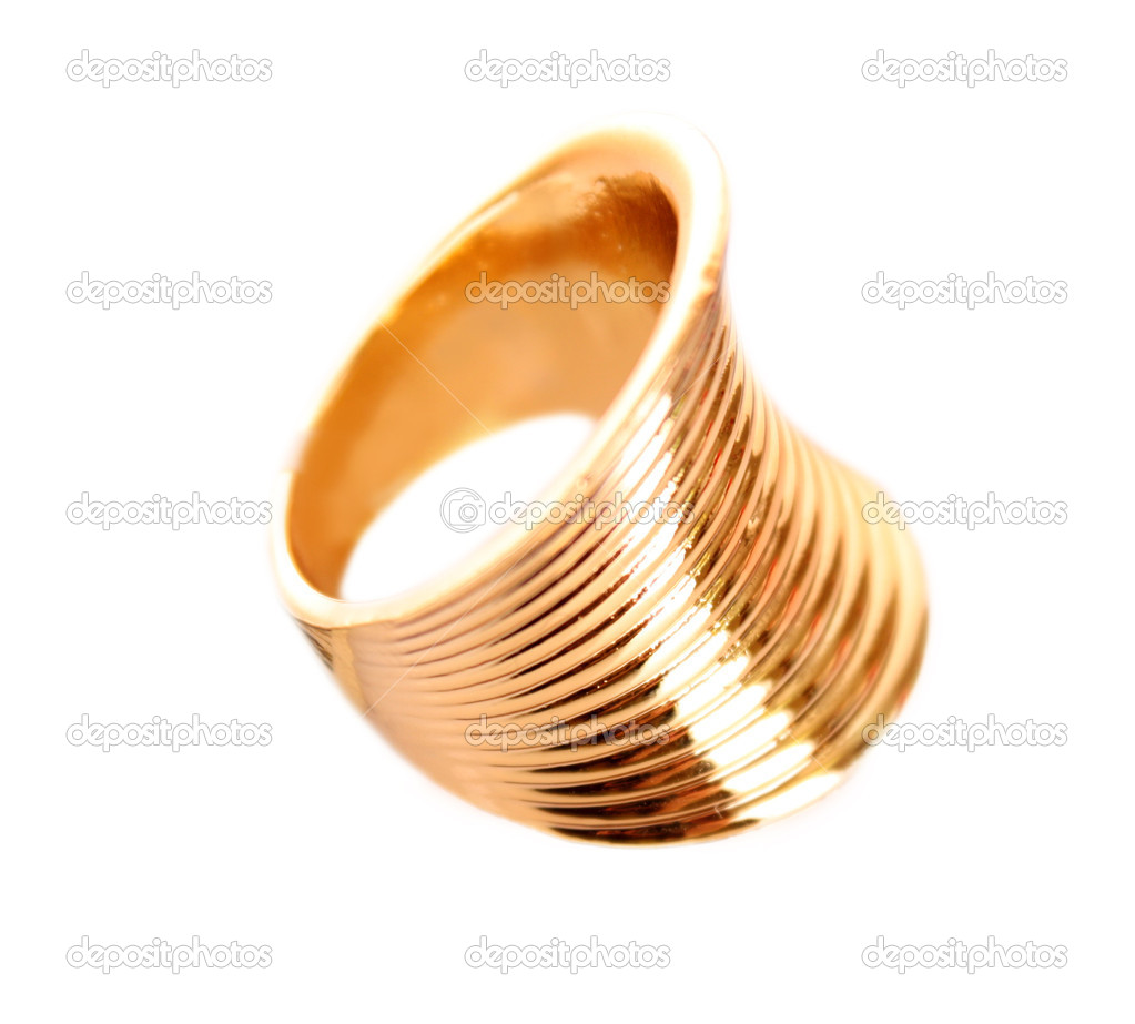 Golden ring isolated on white  Stock Photo #6783003