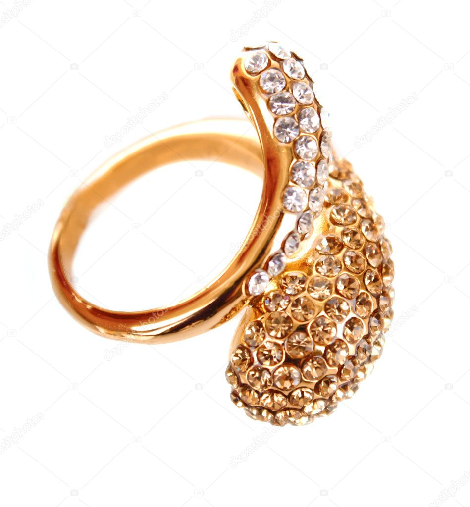 Golden ring isolated on white — Stock Photo #6783245