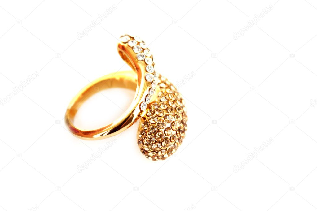 Golden ring isolated on white  Stock Photo #6783249