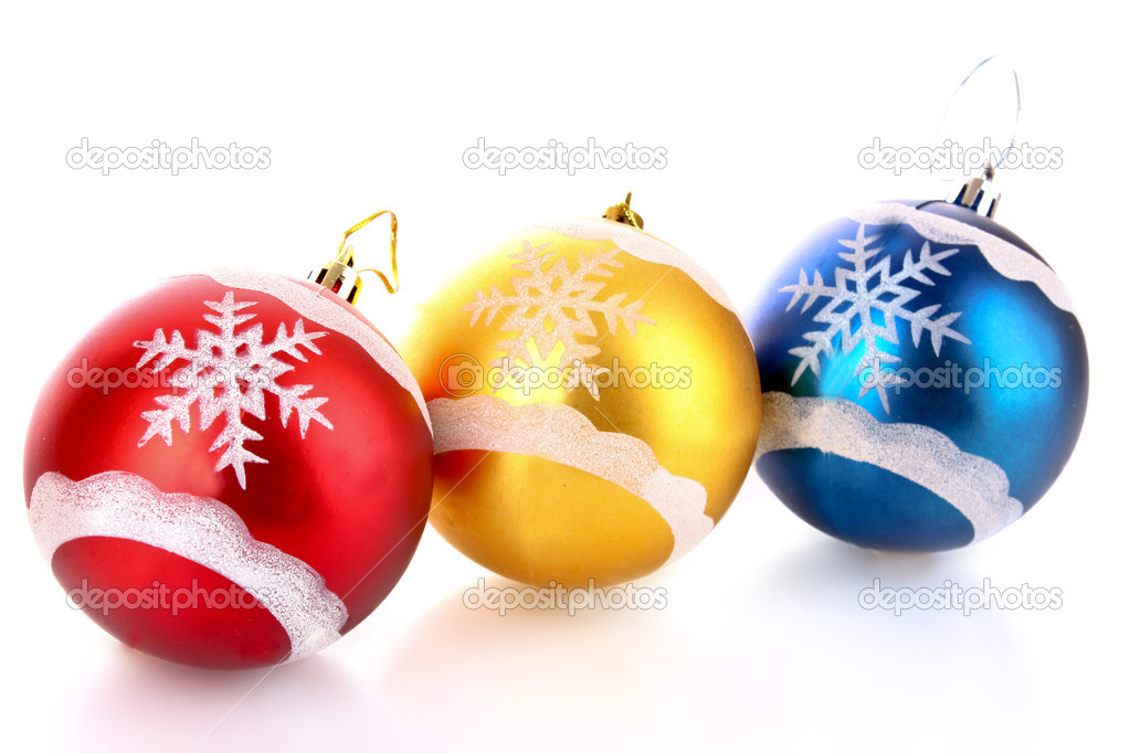 Christmas balls isolated on white — Stock Photo #6785155