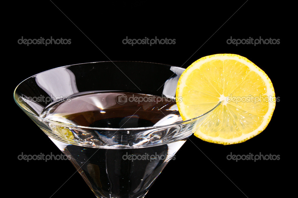 Martini glass on black background  Stock Photo #6785704