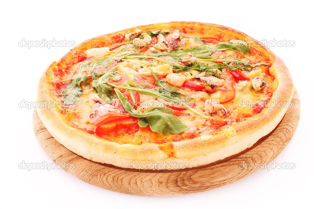 Pizza isolated on white  Stock Photo #6785706
