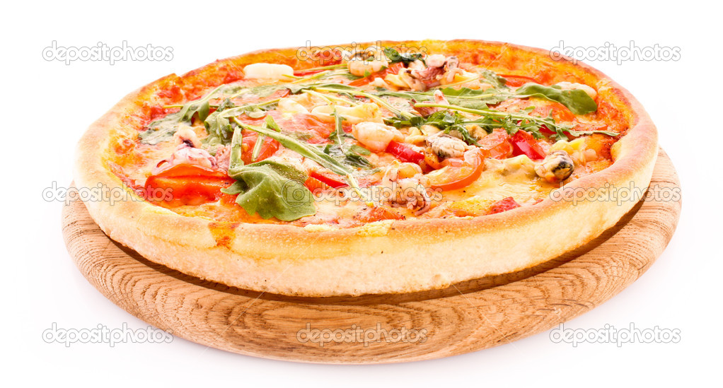 Pizza isolated on white — Stock Photo #6785708