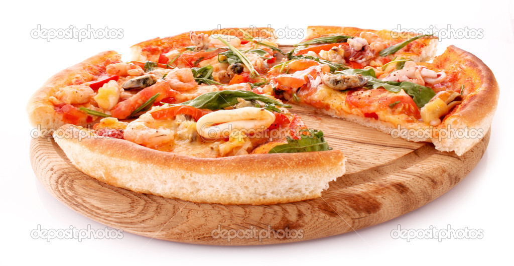 Pizza isolated on white  Stock Photo #6785803