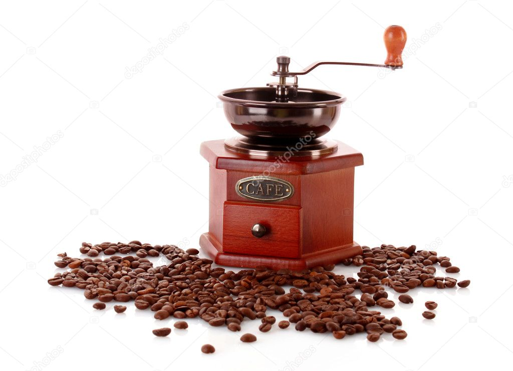 Coffee Grinder isolated on white — Photo #6785895