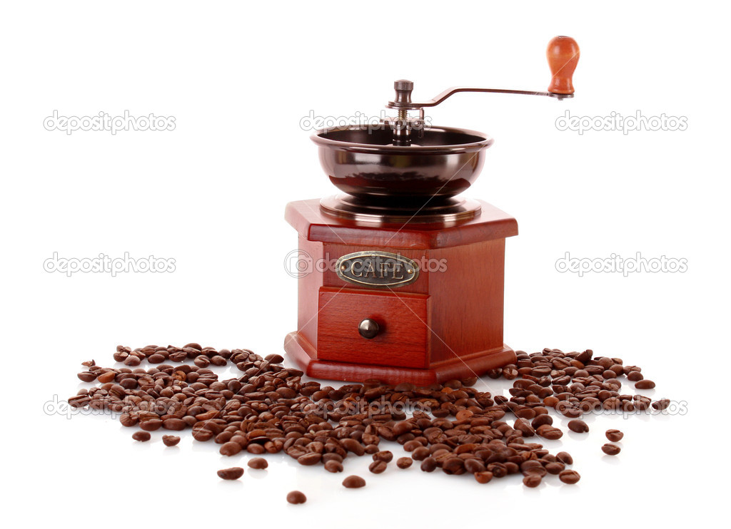 Coffee Grinder isolated on white — Foto Stock #6785895