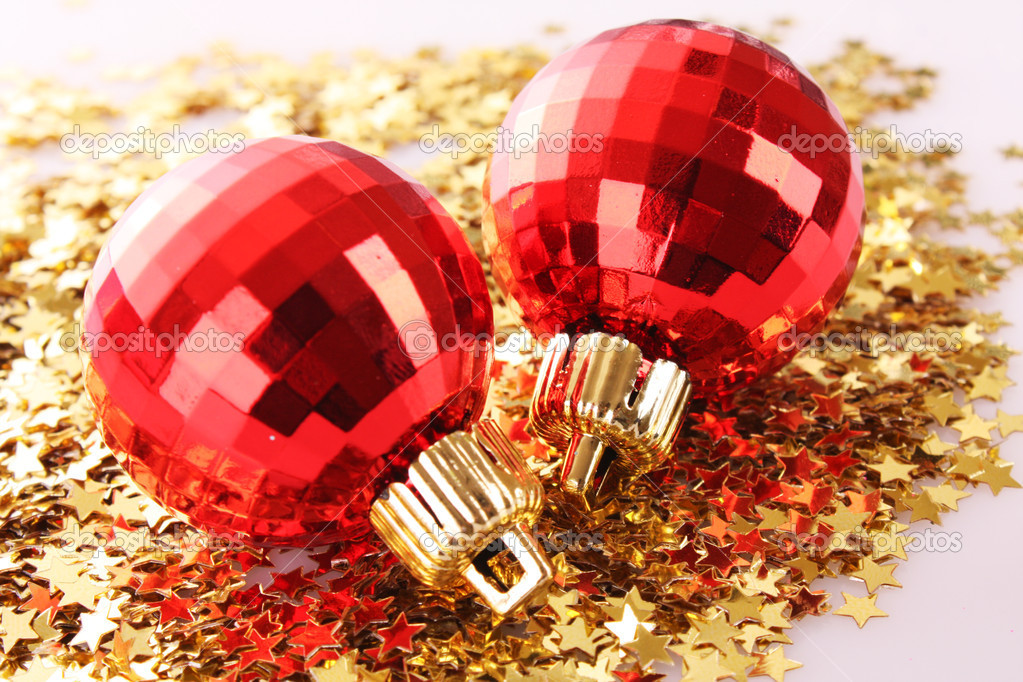 New year decoration on shining background — Stock Photo #6786697