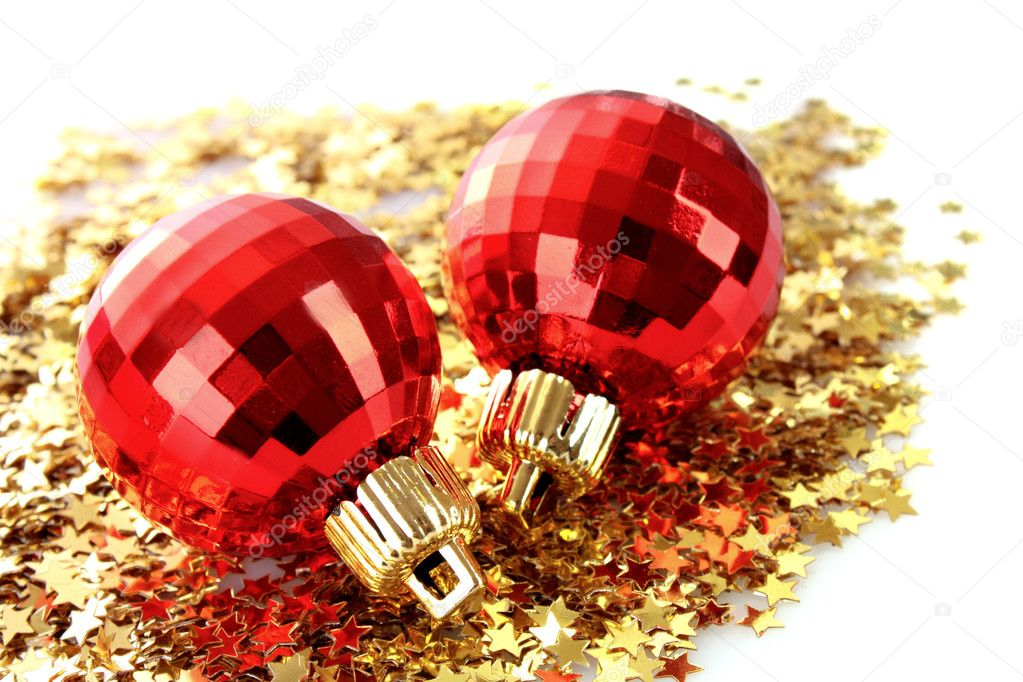 New year decoration on shining background — Stock Photo #6786700
