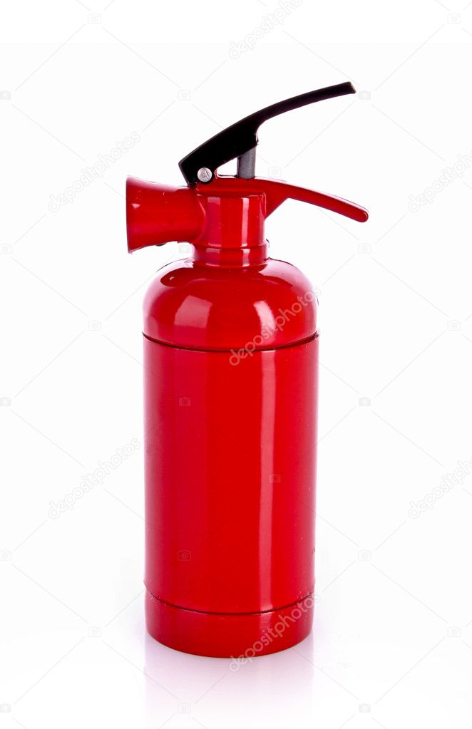 Fire extinguisher isolated on white — Stock Photo #6786954