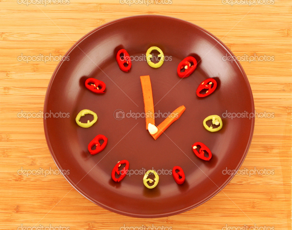 Food clock  Stock Photo #6787848