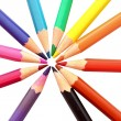 Color pencils on white background — Stock Photo #6790280