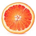 Orange closeup isolated on a white background — Stock Photo