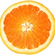 Orange closeup isolated on a white background — Stock Photo