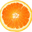 Orange closeup isolated on a white background — Stock Photo #6790406