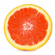 Stock Photo: Orange closeup isolated on a white background