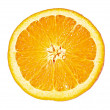 Orange closeup isolated on a white background — Stock Photo #6790433