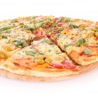 Pizza isolated on white — Stockfoto #6790547