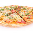 图库照片: Pizza isolated on white