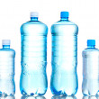 Group plastic bottles of water isolated on white — Stock Photo #6790570