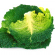 Savoy cabbage isolated on white - Stok fotoğraf
