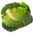 Savoy cabbage isolated on white - Stock Photo