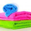 Few towels isolated on white — Stock Photo