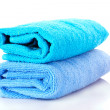 Two towels isolated on white — Stock Photo