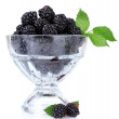 Beautiful blackberries in glass — Stock Photo #6792430
