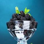Beautiful blackberries in glass — Stock Photo