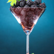 Beautiful blackberries in glass — Stock Photo #6792473