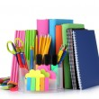 Bright stationery and books — Stock Photo #6793031