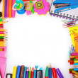 Different colorful stationery — ストック写真