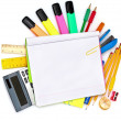 Stock Photo: Different colorful stationery