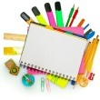 Different colorful stationery — Stok fotoğraf