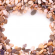 Pebble stones frame — Stock Photo