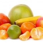 Fruits isolated on white — Stock Photo
