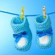 Baby booties from a rope — Stock Photo