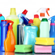 Detergent bottles — Stock Photo
