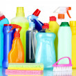 Stock Photo: Detergent bottles