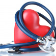 Medical stethoscope and heart — Stock Photo