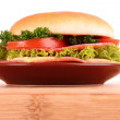 Hamburger isolated on white — Stock Photo #6795179